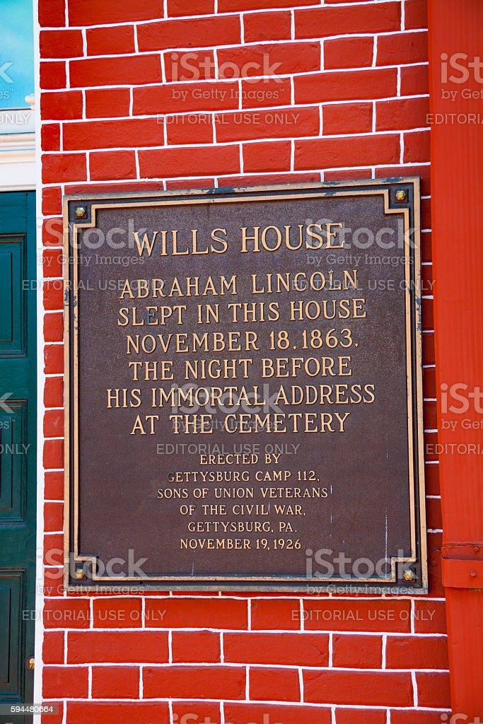 Wills House Plaque stock photo