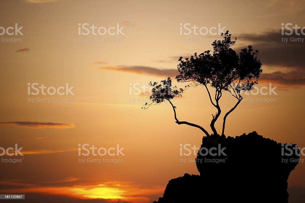 willy?s rock boracay sunset royalty-free stock photo