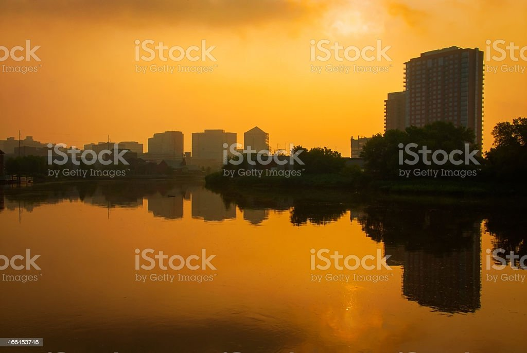 Wilmington at Sunrise stock photo