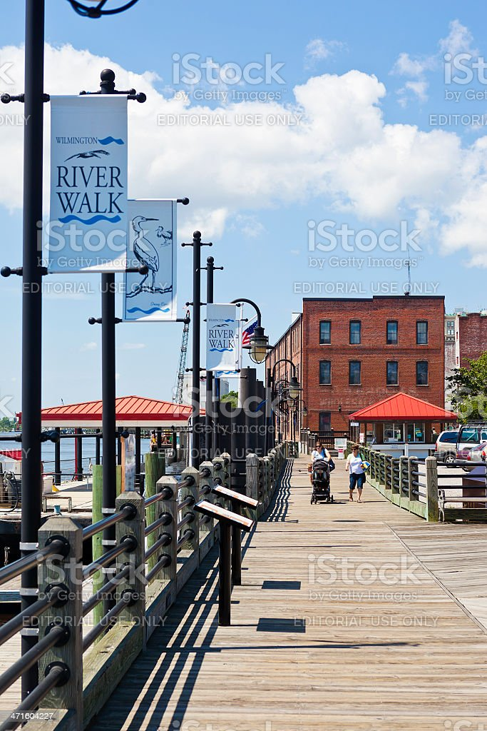 Wilmington, North Carolina, USA River Walk stock photo