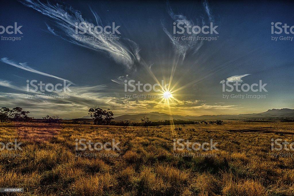 Wilpena Pound Flinders stock photo
