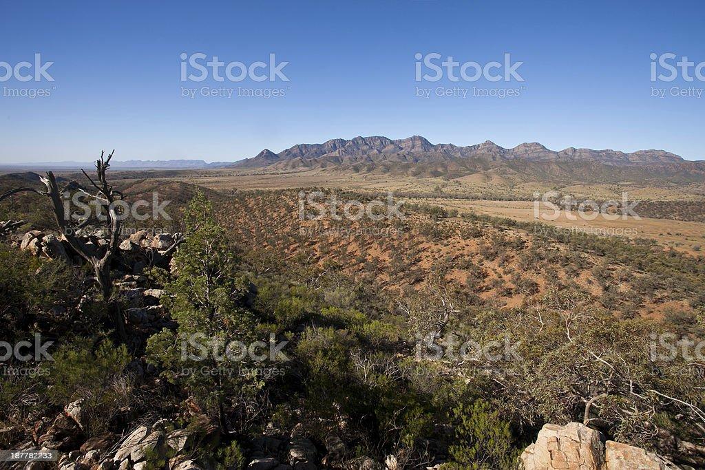 Wilpena Pound Flinders Ranges South Australia stock photo