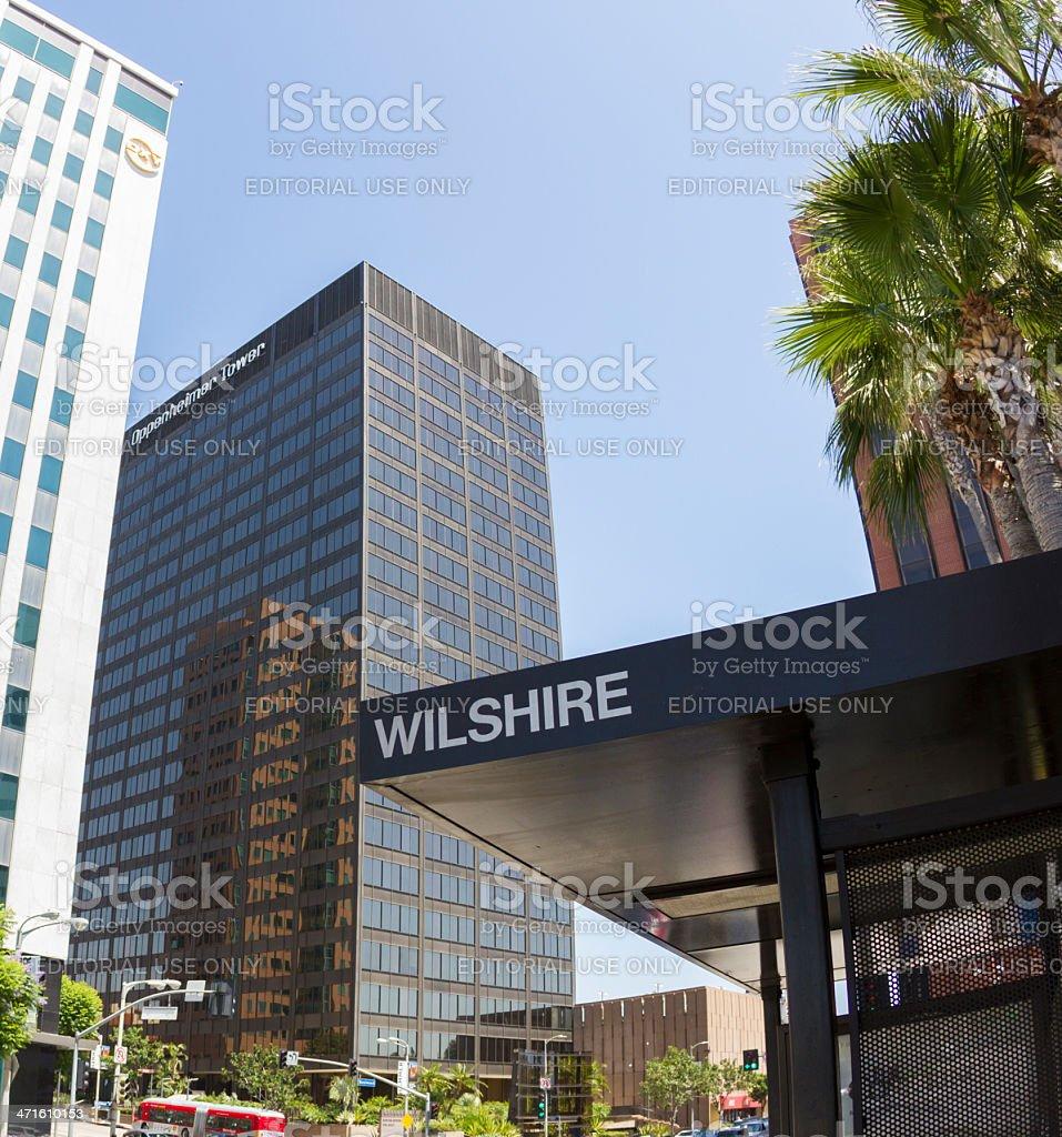Wilshire Blvd in Los Angeles stock photo