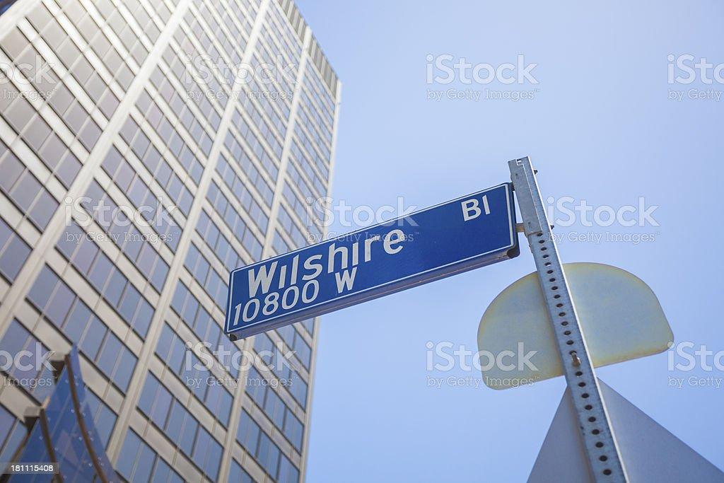 Wilshire Blvd royalty-free stock photo