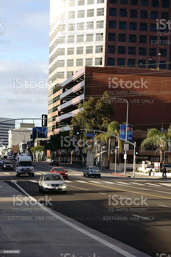 Wilshire Boulevard Los Angeles stock photo