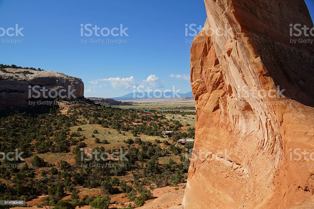 Wilson Arch flank stock photo