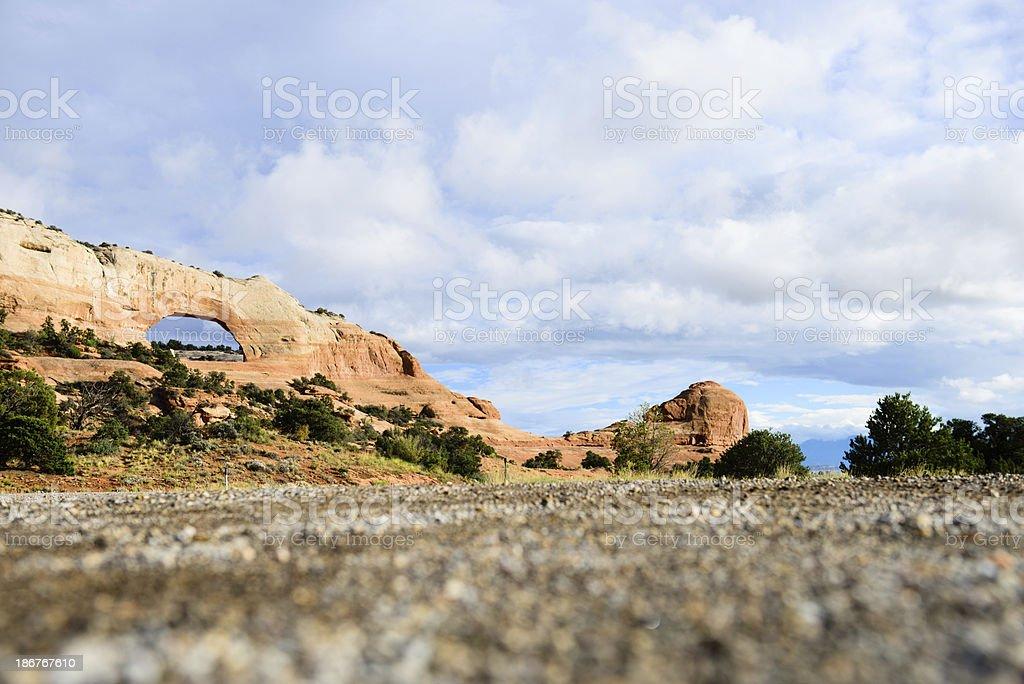Wilson Arch - Horizontal royalty-free stock photo