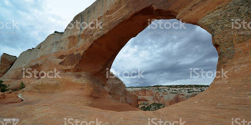 Wilson Arch in Moab, Utah stock photo
