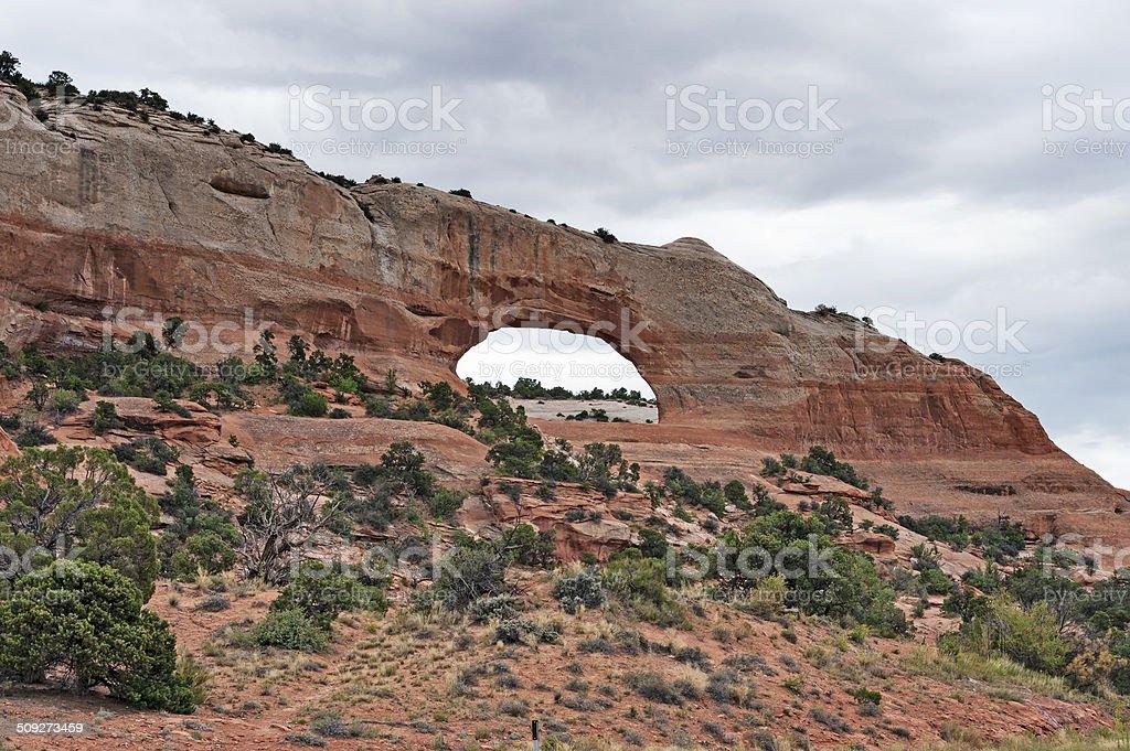 Wilson Arch Moab Utah stock photo