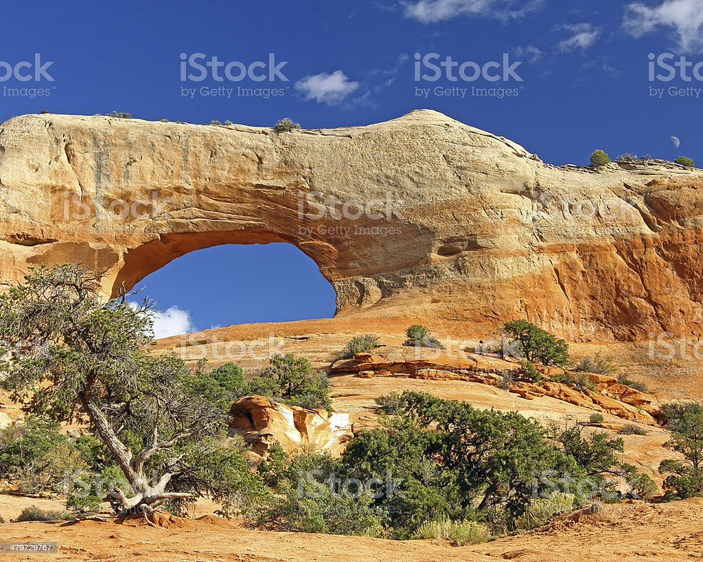 Wilson Arch South of Moab, Utah stock photo