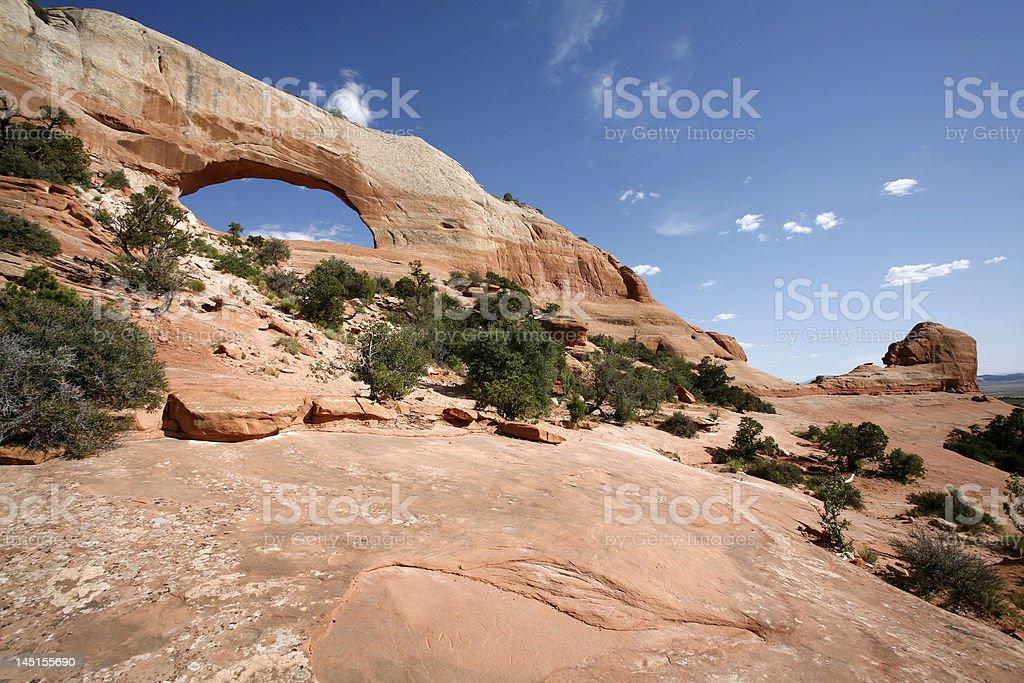 Wilson Arch, Utah stock photo