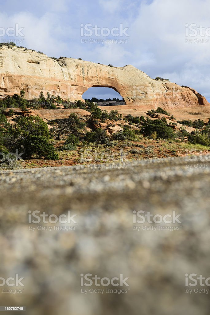 Wilson Arch - Vertical royalty-free stock photo