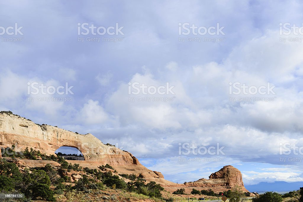 Wilson Arch with Beautiful Sky stock photo