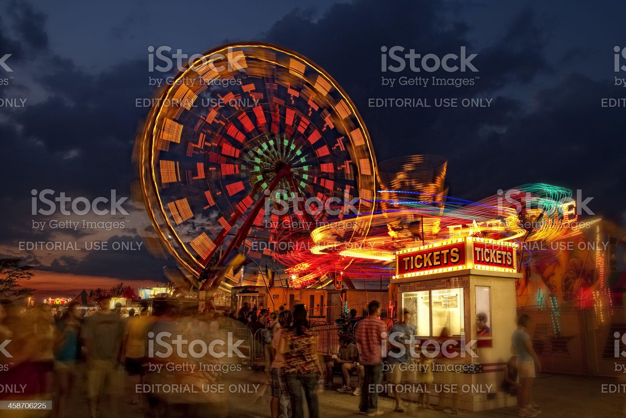 Wilson County Fair at Night royalty-free stock photo