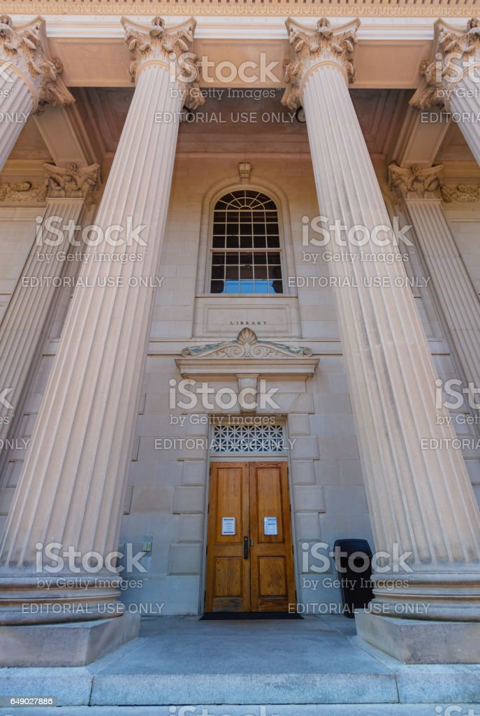Wilson Library at UNC-Chapel Hill stock photo
