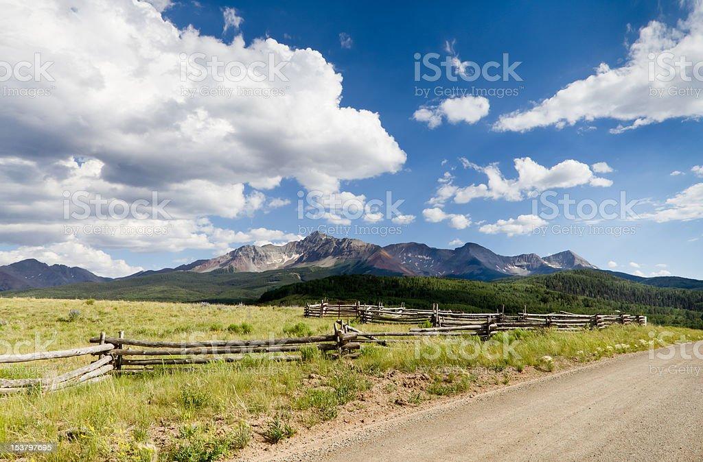 Wilson Mesa Pano Near Telluride, CO stock photo