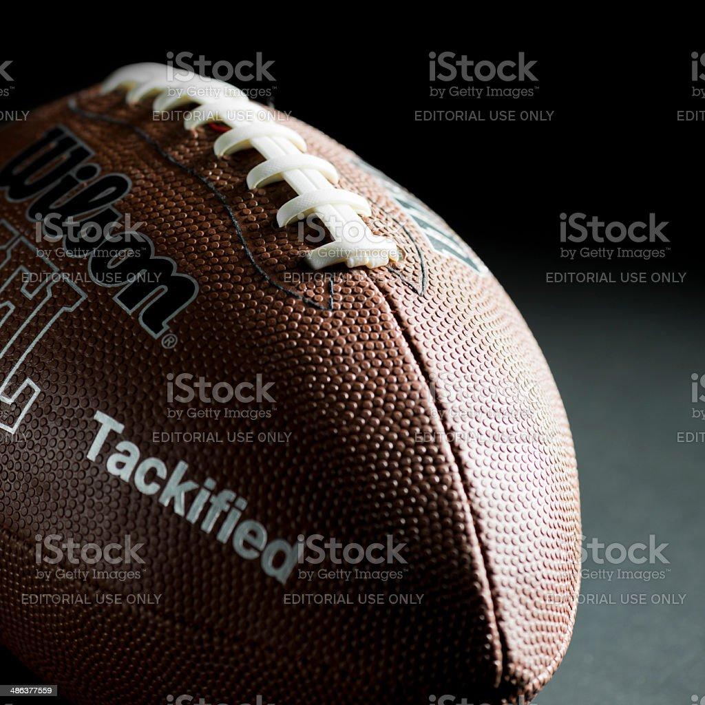 Wilson NFL American Football ball stock photo