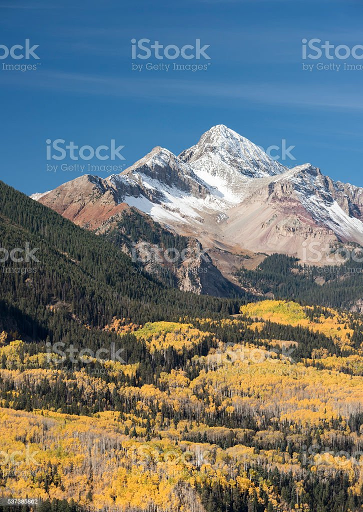 Wilson Peak in Uncompahgre National Forest stock photo