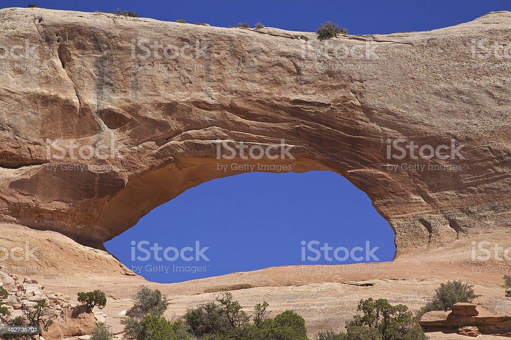 Wilson's Arch Utah stock photo