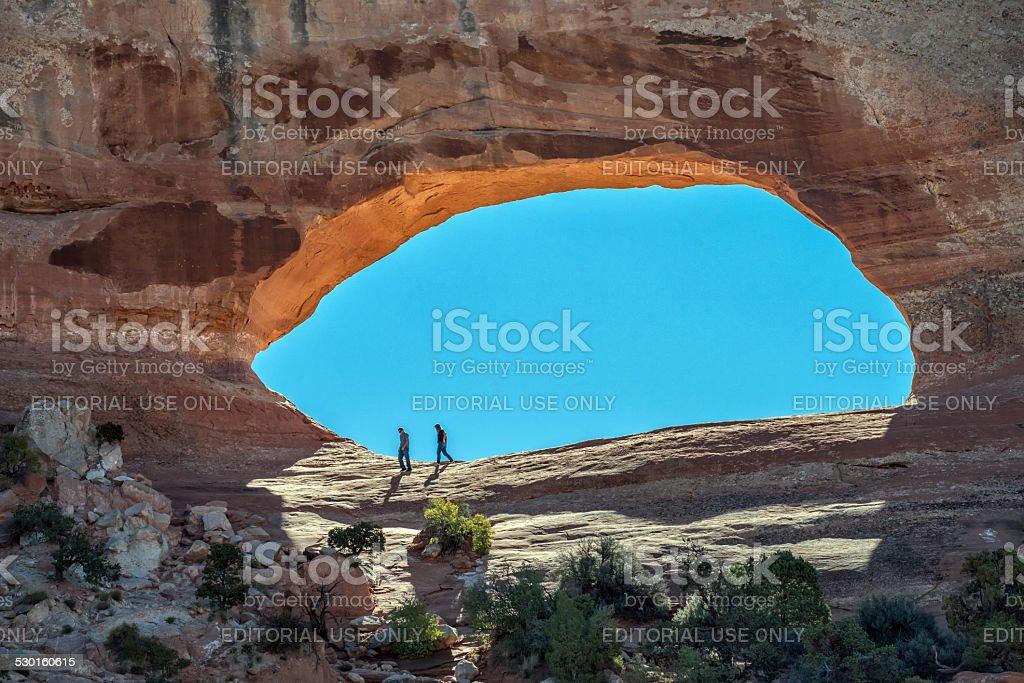 Wilson's Arch, Utah stock photo
