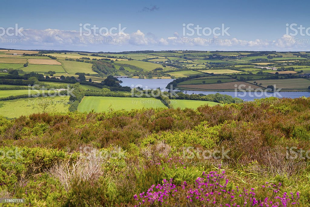 Wimbleball Lake Exmoor National Park Somerset stock photo