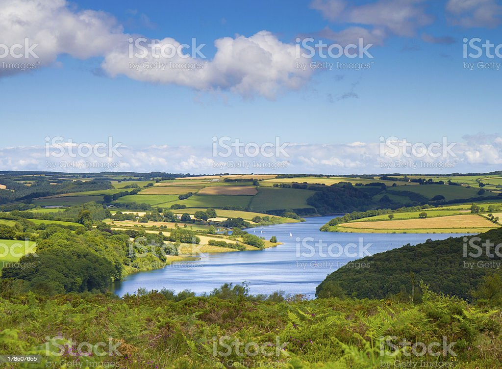 Wimbleball Lake Exmoor Somerset stock photo