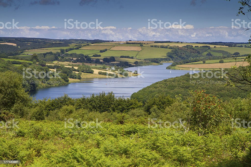 Wimbleball Reservoir Exmoor National Park Somerset stock photo