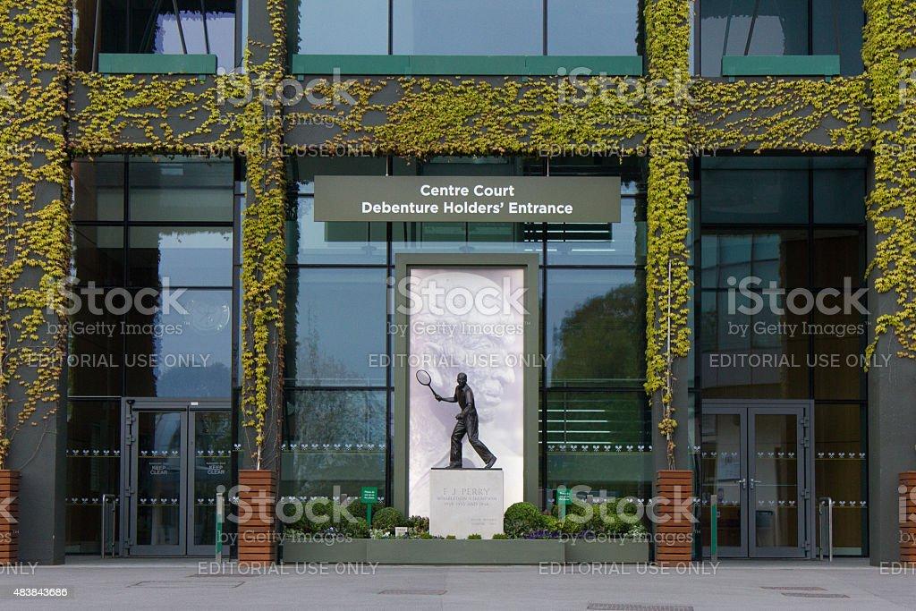 Wimbledon Centre Court - Debenture Holder's Entrance stock photo