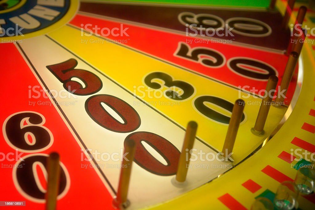 Win 500 points on a wheel of fortune royalty-free stock photo