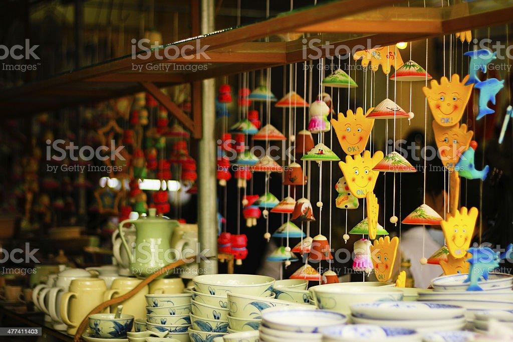 Win bell in Bat Trang village. stock photo
