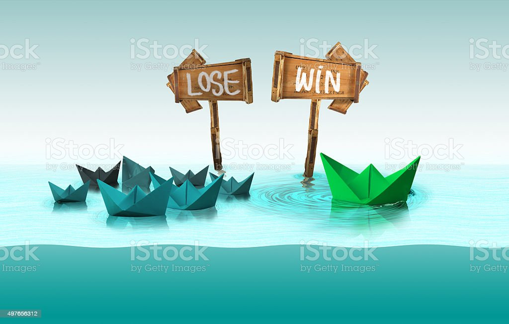 win concept, think different stock photo