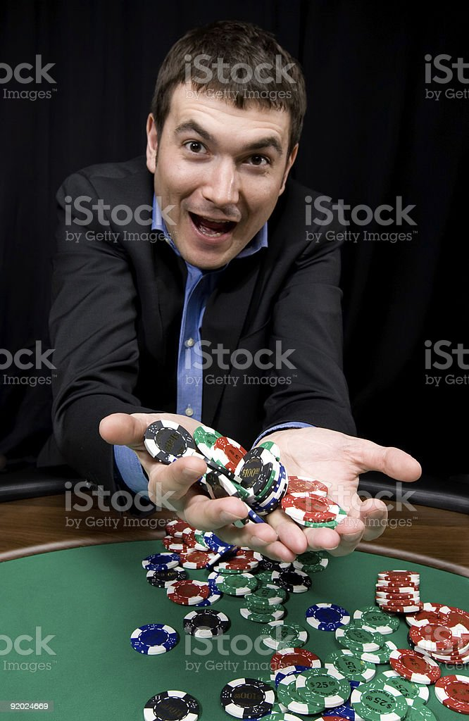 Win in the casino royalty-free stock photo