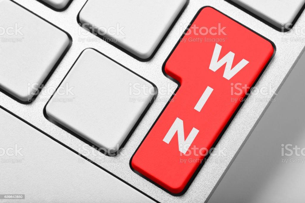 Win keyboard stock photo