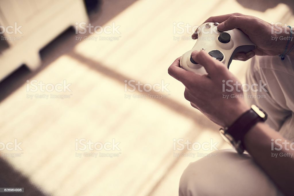 Win or lose, you control it stock photo
