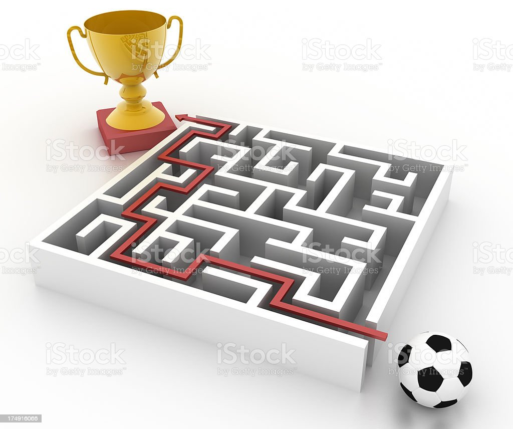 Win the Match royalty-free stock photo