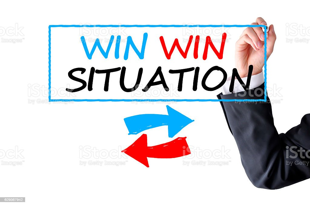 Win win situation stock photo