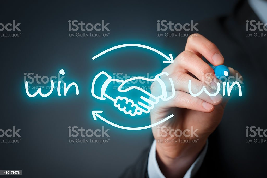 Win win strategy stock photo