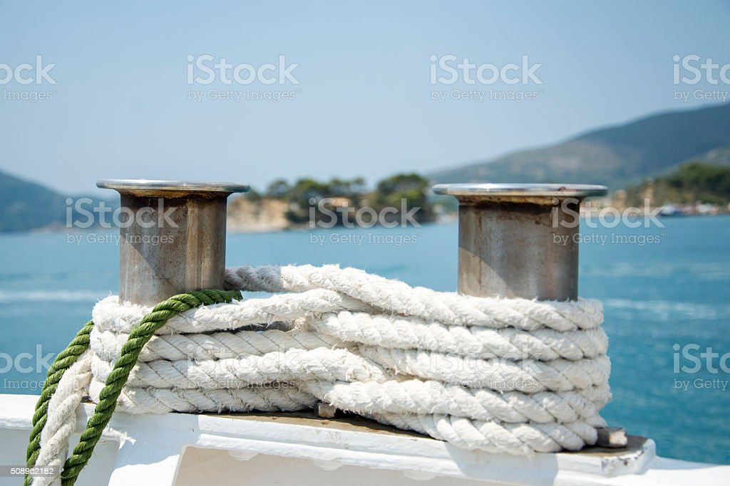 Winches on a sailing yacht stock photo