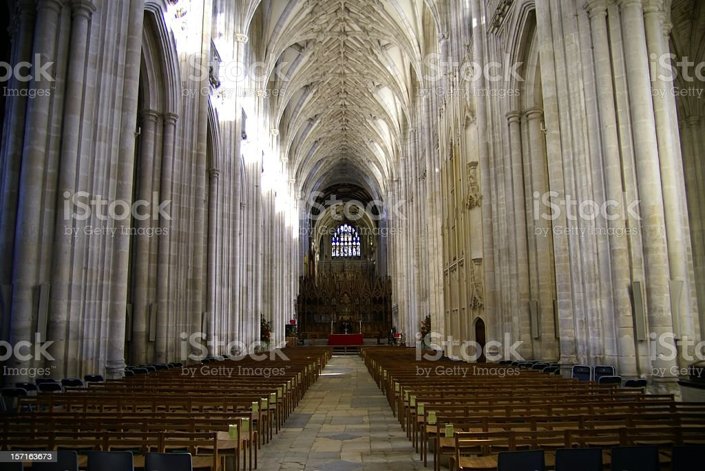 Winchester Cathedral royalty-free stock photo
