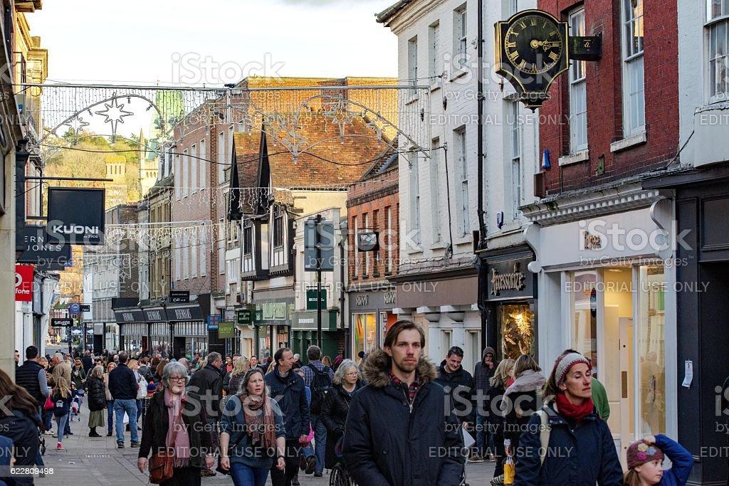 Winchester high street stock photo