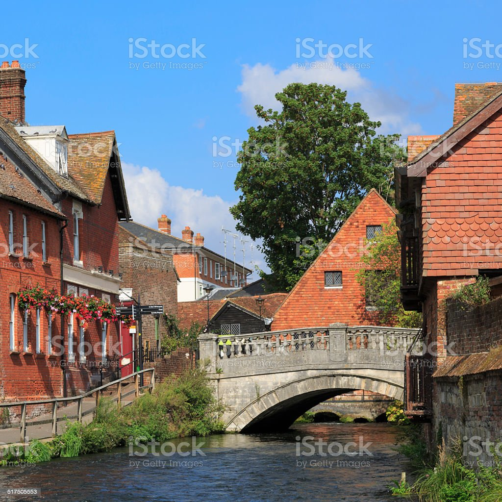 Winchester in Hampshire stock photo