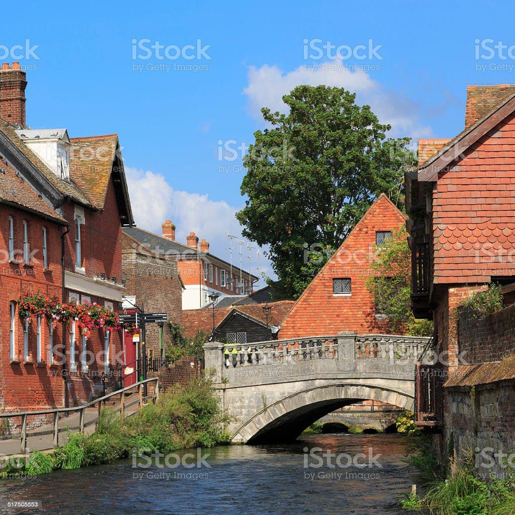 Winchester in Hampshire stock photo