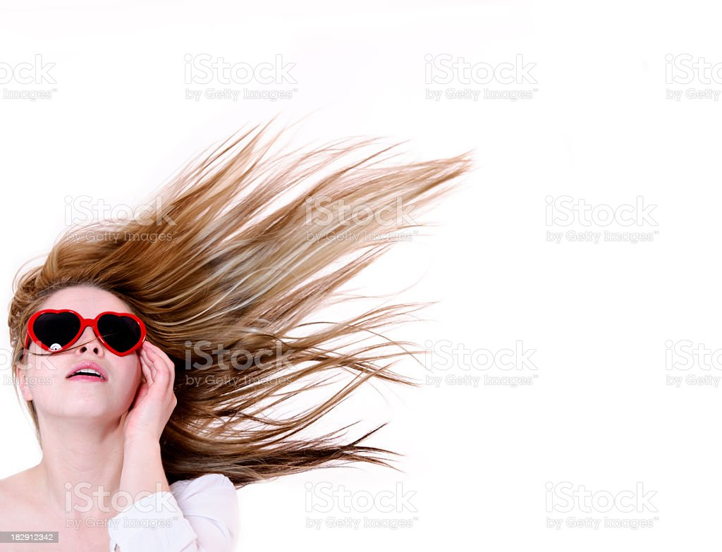 wind and woman royalty-free stock photo