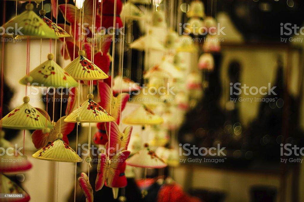 Wind bell in Bat Trang village - Vietnam stock photo