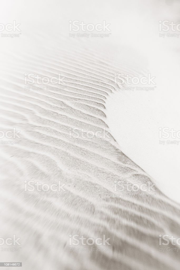Wind Blown Sand, Black and White royalty-free stock photo
