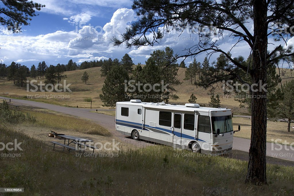 Wind Cave Campground royalty-free stock photo