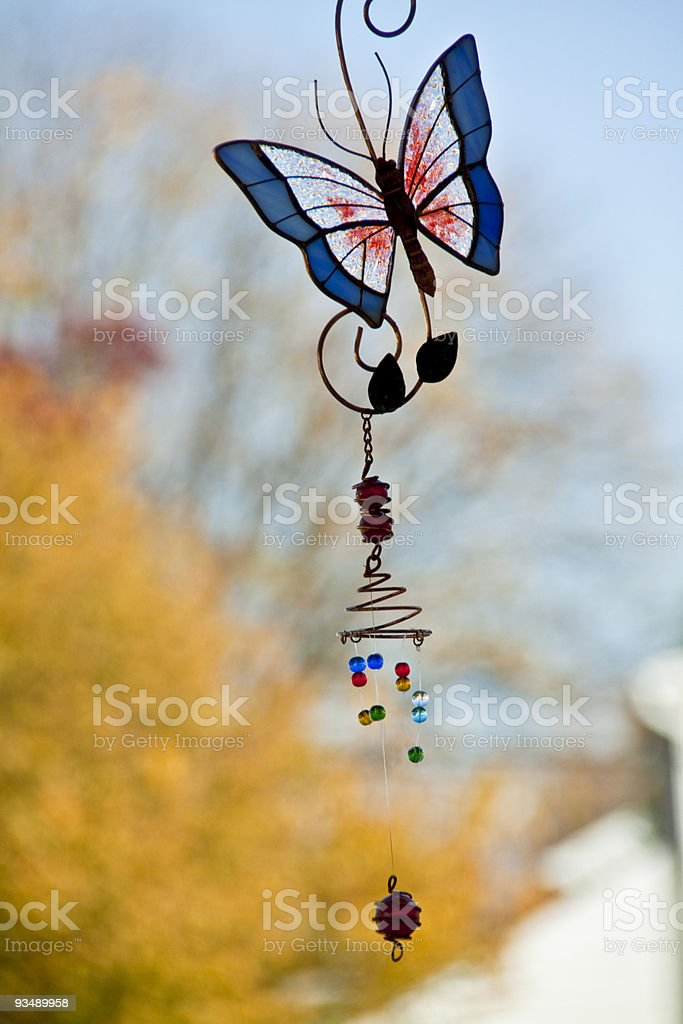 Wind Chime Butterfly stock photo