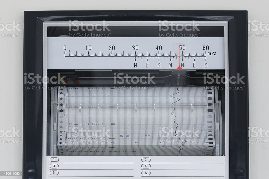 Wind Direction and Speed Data royalty-free stock photo