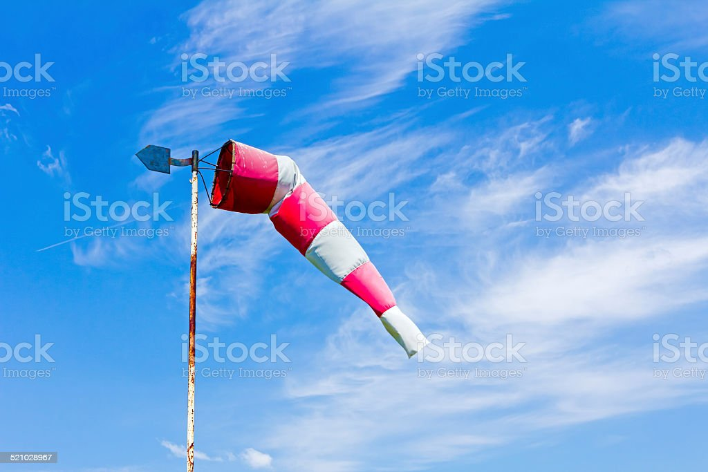 Wind direction indicator stock photo