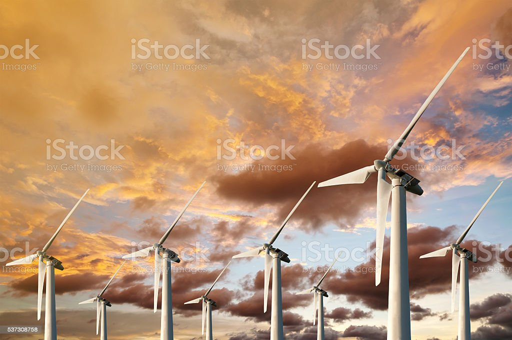 Wind Energy Blows Into Future Amarillo stock photo